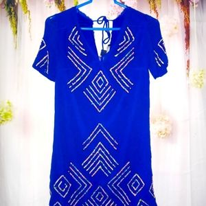 French Connection Blue Sequined Dress